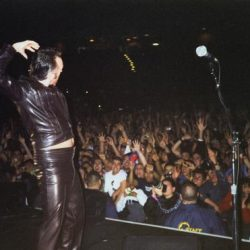 On Stage with Morrissey.